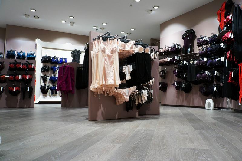 Vue d'ensemble de la boutique Valège lingerie